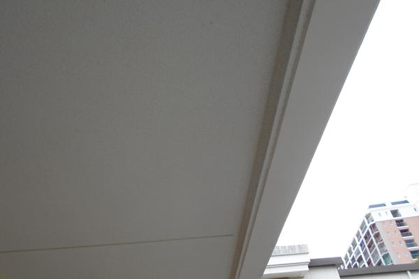 クモの巣除去し、キレイになった廊下の天井