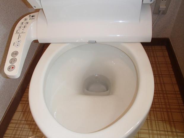 清掃後のマンションのトイレ