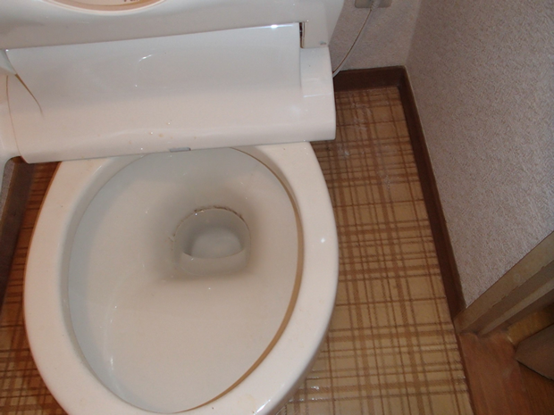 清掃前のマンションのトイレ